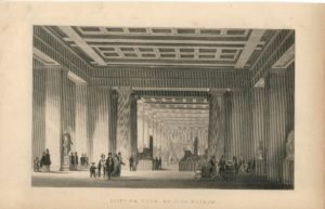 Antique Engraving Print, Egyptian Room, British Museum, 1852
