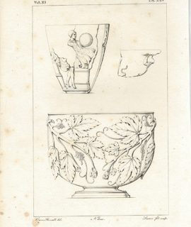 Antique Engraving Print, Beccalli, TA. XLV, 1835
