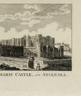 Antique Engraving Print, Beaumaris Castle in Anglesea, 1792