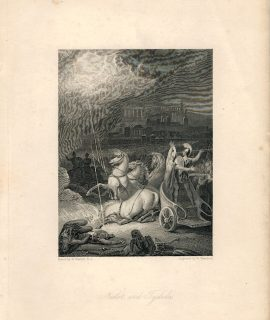 Rare Antique Engraving Print, Nestor and Tydides, 1836