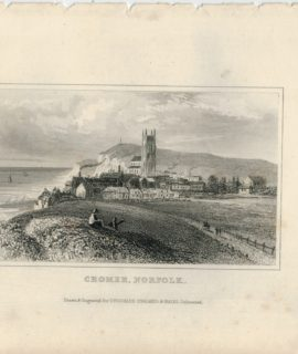 Antique Engraving Print, Cromer, Norfolk, Dugdales, 1840 ca.