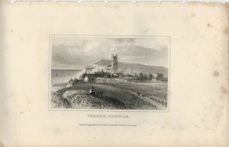 Antique Engraving Print, Cromer, Norfolk, Dugdales, 1840 ca.