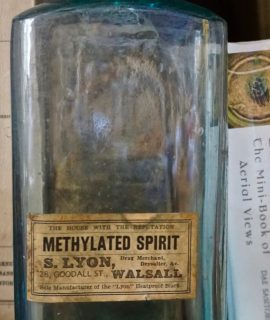 Antique Methylated Spirit, 1890-1901 ca.