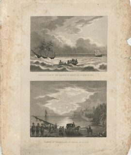 Embarkation and Landing of the Duchess of Berry, 1810 ca.