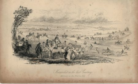 Newmarket in the last Century, Morning on the Warren Hill, 1840
