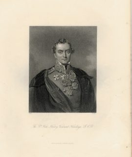 Antique Engraving Print, The R.t Hon. Henry Viscount Hardinge, 1840