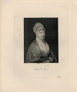 Antique Engraving Print, Woman Portrait, 1844