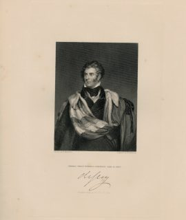 Antique Engraving Print, Thomas Philip Weddell Robinson, Earl the Grey, 1844