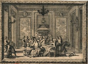 Rare Antique French Etching, Pierre Jean Mariette, 1720 ca.