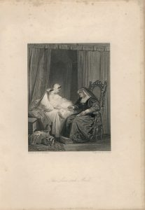 Rare Antique Engraving Print, The Love Sick Maid, 1836