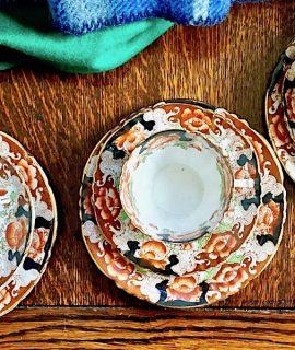 Antique Park Place China Reid's England Tea set, 1913 (13 pieces).