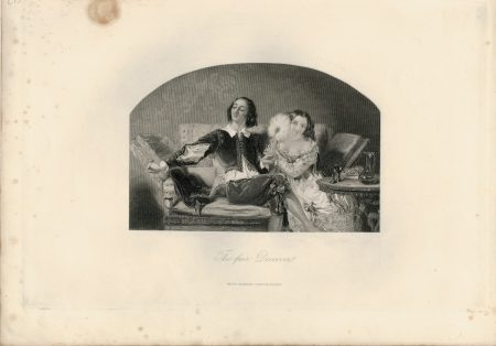 Antique Engraving Print, The Fair Deceiver, 1836
