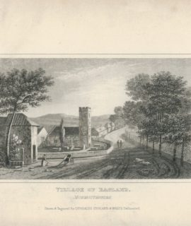 Antique Engraving Print, Village of Ragland, Dugdales, 1840