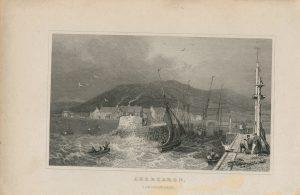 Antique Engraving Print, Aberearon, Cardiganshire, 1831