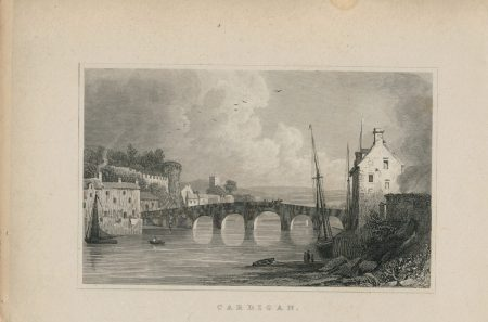 Antique Engraving Print, Cardigan. 1831