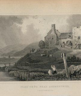 Antique Engraving Print, Plas Crûg, Near Aberystwith, Cardiganshire, 1831