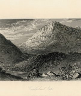 Antique Engraving Print, Cumberland Gap, 1872