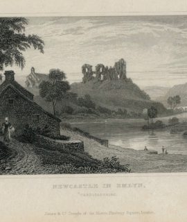 Antique Engraving Print, Newcastle in Emlyn, Cardiganshire, 1831