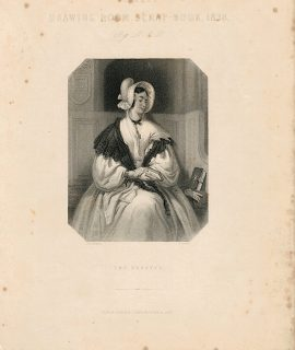 Antique Engraving Print, The Devotee, 1837