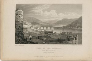 Antique Engraving Print, Vale of the Rhydiol, Cardiganshire, 1831
