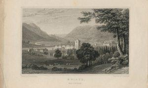Antique Engraving Print, Builth, Breconshire, 1836