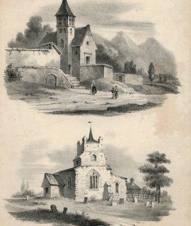 Antique Engraving Print, London, 1870 ca.