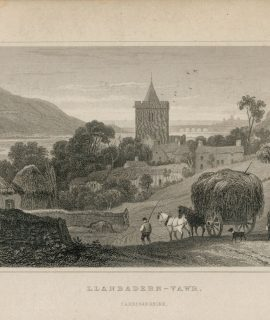 Antique Engraving Print, Llanbadern-Vawr, Cardiganshire, 1831