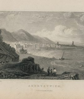 Antique Engraving Print, Aberystwith, Cardiganshire, 1831