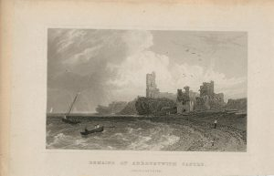 Antique Engraving Print, Remains of Aberystwith Castle, Cardinganshire, 1831
