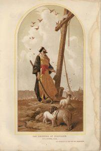 Vintage Print, The Shepherd of Jerusalem, by P.R. Morris, 1902