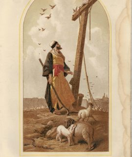 Vintage Print, The Shepherd of Jerusalem, by P.R. Morris, 1902