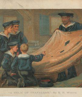 Vintage Print, A relic of Trafalgar by E.R. White, 1875