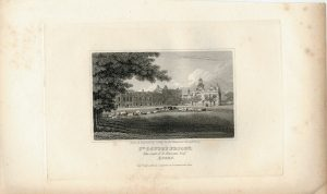Antique Engraving Print, St.Osyth's Priory, the Seat of F. Nassau, 1818