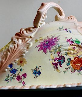 Antique Cheese Dish, Stoke-on-Trent Staffordshire England, 1891