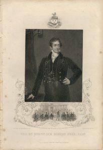 Antique Engraving Print, Sir Robert Peel, 1850