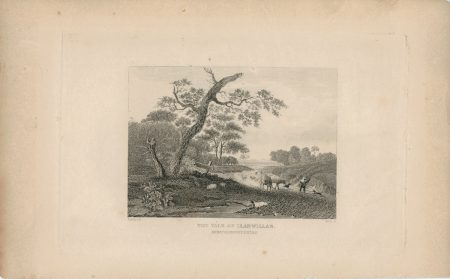 Antique Engraving Print, The Yale of LLanwillan, Montgomeryshire, 1820 ca.