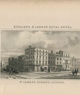 Antique Engraving Print, St. James Street, London, 1835