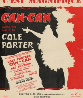 "Broadway Musical sheet music ""C'est Magnifique, Can-Can"", 1958"