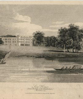 Antique Engraving Print, Sion House, Middlesex, 1806