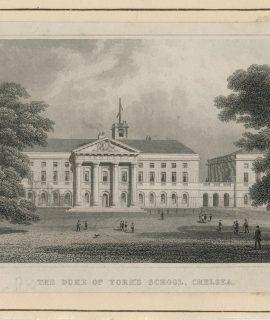 Antique Engraving Print, The Duke of York's School, Chelsea, 1831