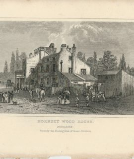 Antique Engraving Print, Hornsey Wood House, Middlesex, 1830 ca.