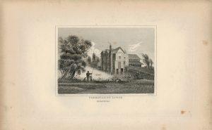 Antique Engraving Print, Farringdon Lodge, Berkshire, 1845