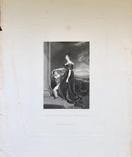 Antique Engraving Print, Frances, Marchioness of Londonderry, 1837