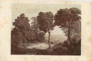 Antique Engraving Print, Home Again, 1840 ca.