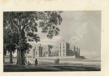Antique Engraving Print, The Castle, 1840 ca.