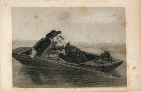 Antique Engraving Print by E. Jones, 1840 ca.