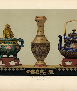 """Lot of 15 Colour Chromolithographs from """"Keramic Art of Japan"""", 1881"""