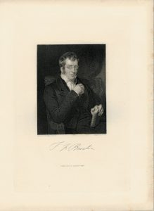 Antique Engraving Print, Portrait by Holl, 1844