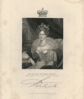 Antique Engraving Print, Princess Adelaide of Saxe-Meiningen, 1820 ca.