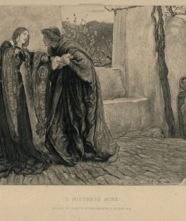 Antique Engraving Print, O Mistress Mine, Edwin Austin Abbey, 1899